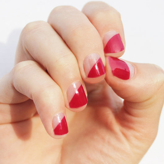 Raspberry Modern French Nail Wraps