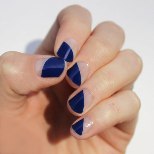 Indigo Modern French Nail Wraps