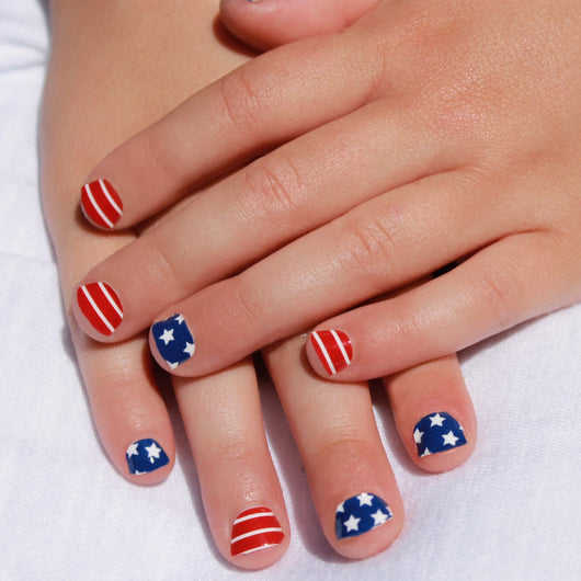 Stars & Stripes Kids Nail Wraps