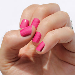 Solid Raspberry Nail Wraps