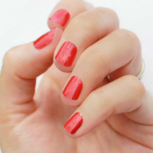 Solid Red Nail Wraps