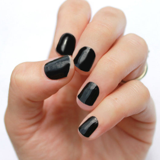 Solid Black Nail Wraps