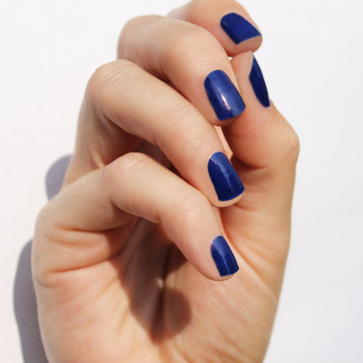 Solid Navy Nail Wraps