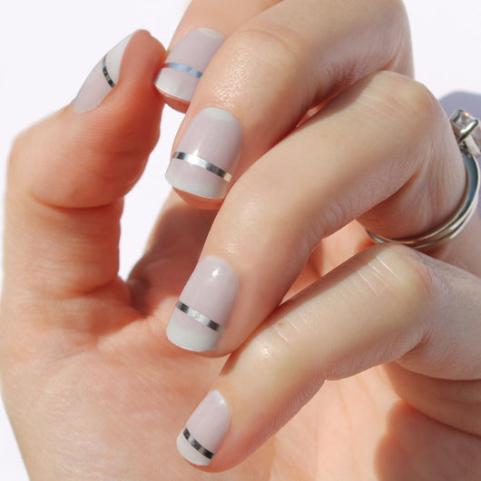 Barely There Gray Lola Nail Wraps