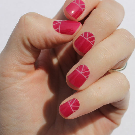 Raspberry Indio Nail Wraps