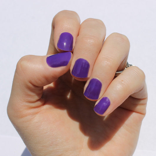 Solid Purple Nail Wraps