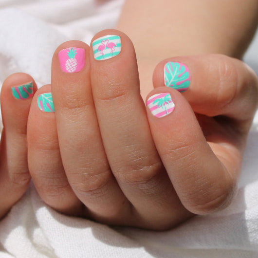 Flamingo Paradise Mini Nail Wraps