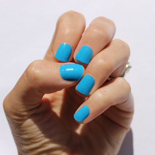 Solid Maui Blue Nail Wraps