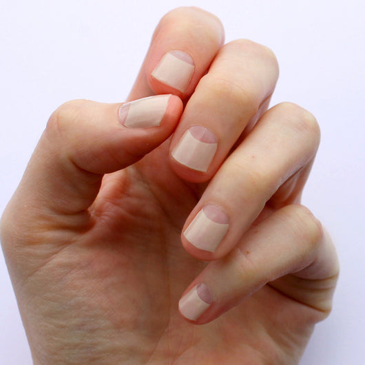 Nude Avery Transparent Nail Wraps