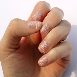 White Cali Nail Wraps