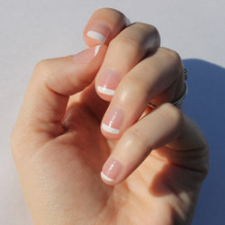 White French Nail Wraps - Fits Shorter Nails