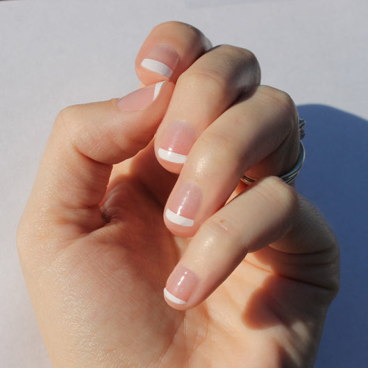 White French Nail Wraps - Fits Longer Nails