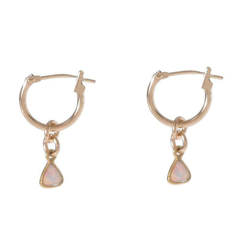 OPAL HUGGIES (14K SOLID GOLD)