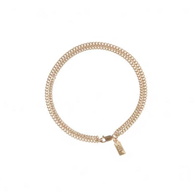 DOUBLE CHAIN BRACELET/ ANKLET  (14K GOLD FILL)