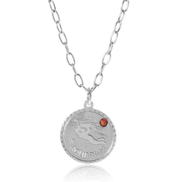 Birthstone Ascending Necklace - Sterling Silver