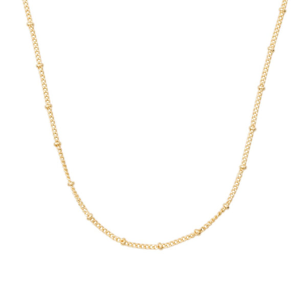 THIN SATELLITE CHAIN (14k GOLD-FILL)