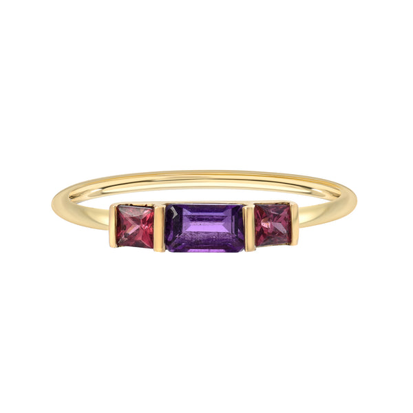 THREE'S THE CHARM STACKED BIRTHSTONE RINGS