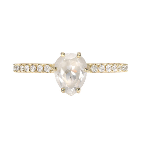 14K GOLD ICE PEAR DIAMOND RING