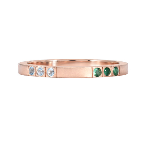 14K ROSE GOLD BIRTHSTONE BAND