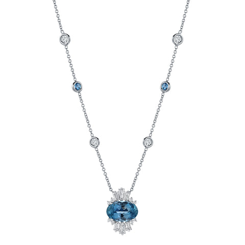 Aquamarine Birthstone on Diamond By The Yard