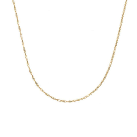 14K TWISTED ROPE CHAIN (YELLOW GOLD-FILL)