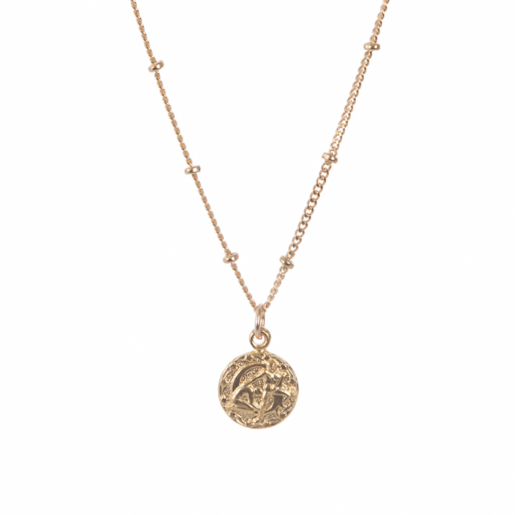 Tiny Astrology Necklace - 14k Gold Fill Chain