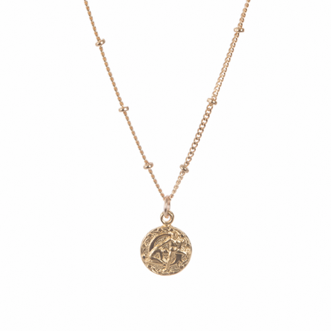 TINY ASTROLOGY NECKLACE - WITH GOLD FILL CHAIN