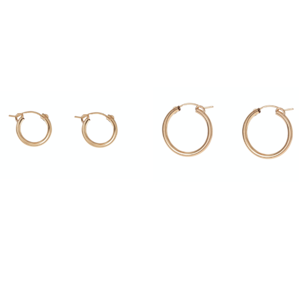 CLASSIC HOOPS - GOLD FILLED