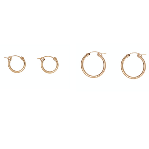 GOLD FILL CLASSIC HOOPS