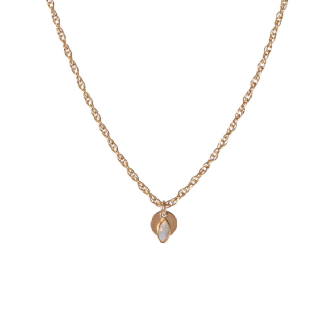 OPAL NECKLACE (GOLD FILLED CHAIN)