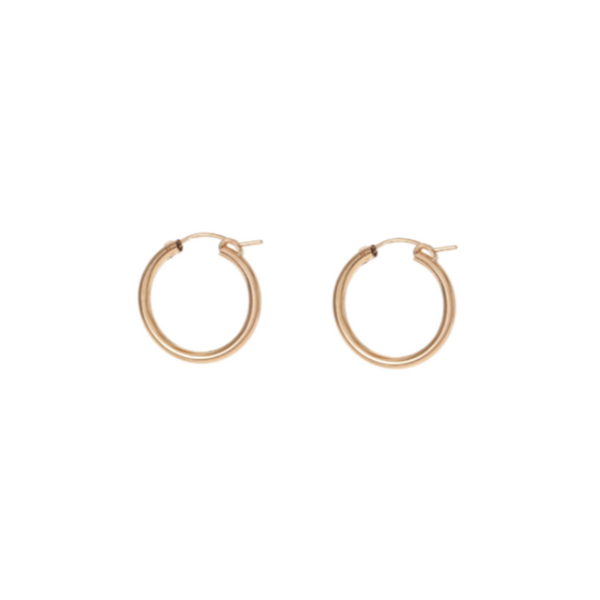 Classic Hoops - Gold Fill