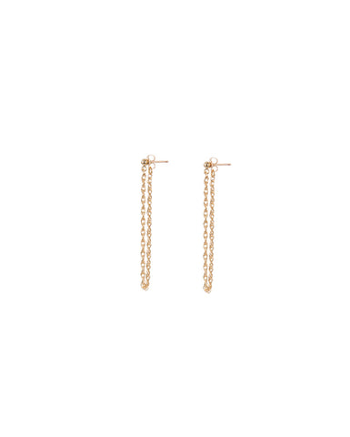 TWISTED CHAIN EARRINGS