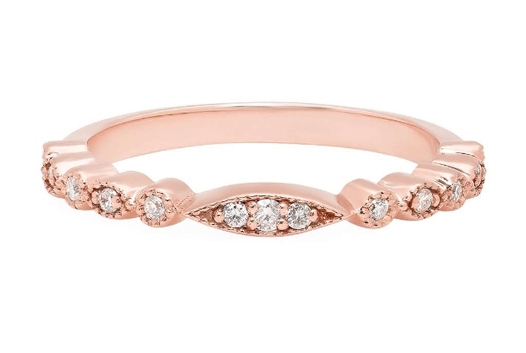 ROUND DIAMONDS SET IN 14K ROSE GOLD SETTING