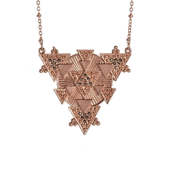 CAM Jewelry Studded Saguaro Necklace in Metallic Copper TO7YAP