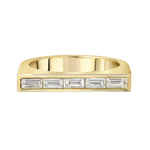 BAGUETTE DIAMOND RUNNER IN 14K YELLOW GOLD SETTING