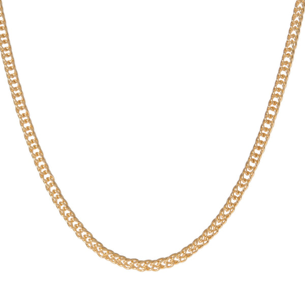 SMALL DOUBLE CURB-LINK NECKLACE
