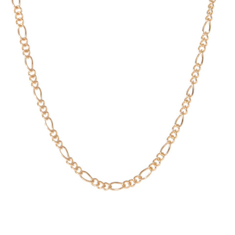 TINY FIGARO CHAIN (14k GOLD-FILL)
