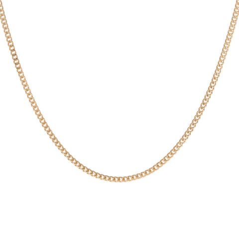 TINY CURB CHAIN NECKLACE