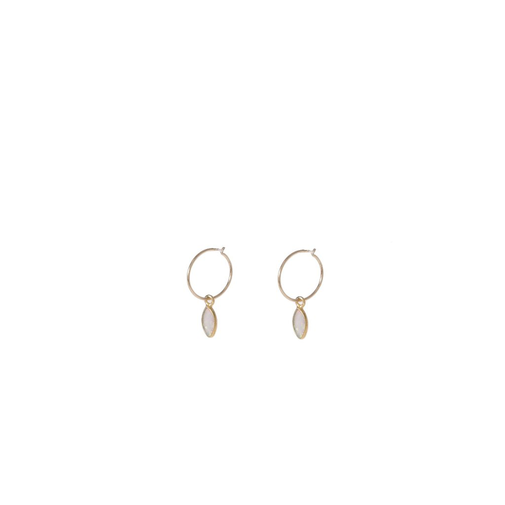OPAL SLEEPERS (14K SOLID GOLD)