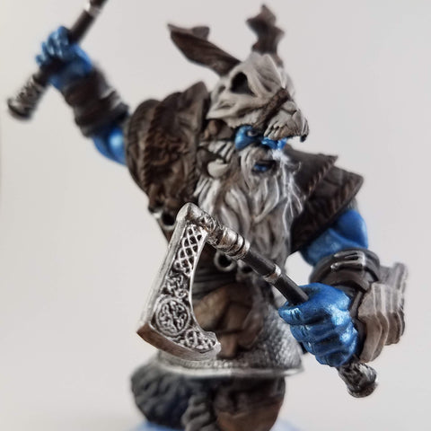 Frost Giant - D&D Miniatures Hand Painted - Rose and Shadow