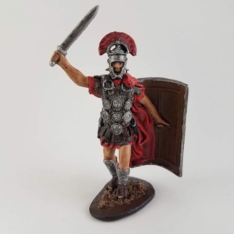 Roman Centurion Tin Soldier - Metal Miniature Hand Painted - Rose and Shadow