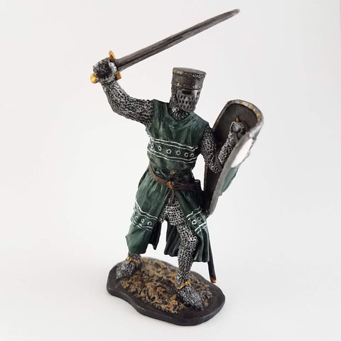 Medieval Knight Tin Soldier - Metal Miniature Hand Painted - Rose and Shadow