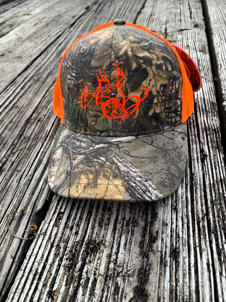 Logo Orange Mesh Hat