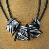 Black and Silver Tribal Necklace
