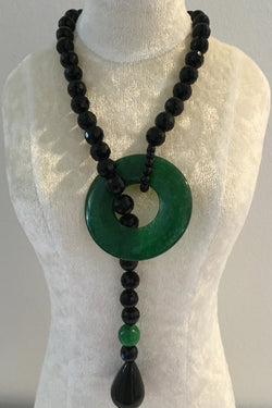 Jade and Onyx Necklace (2)