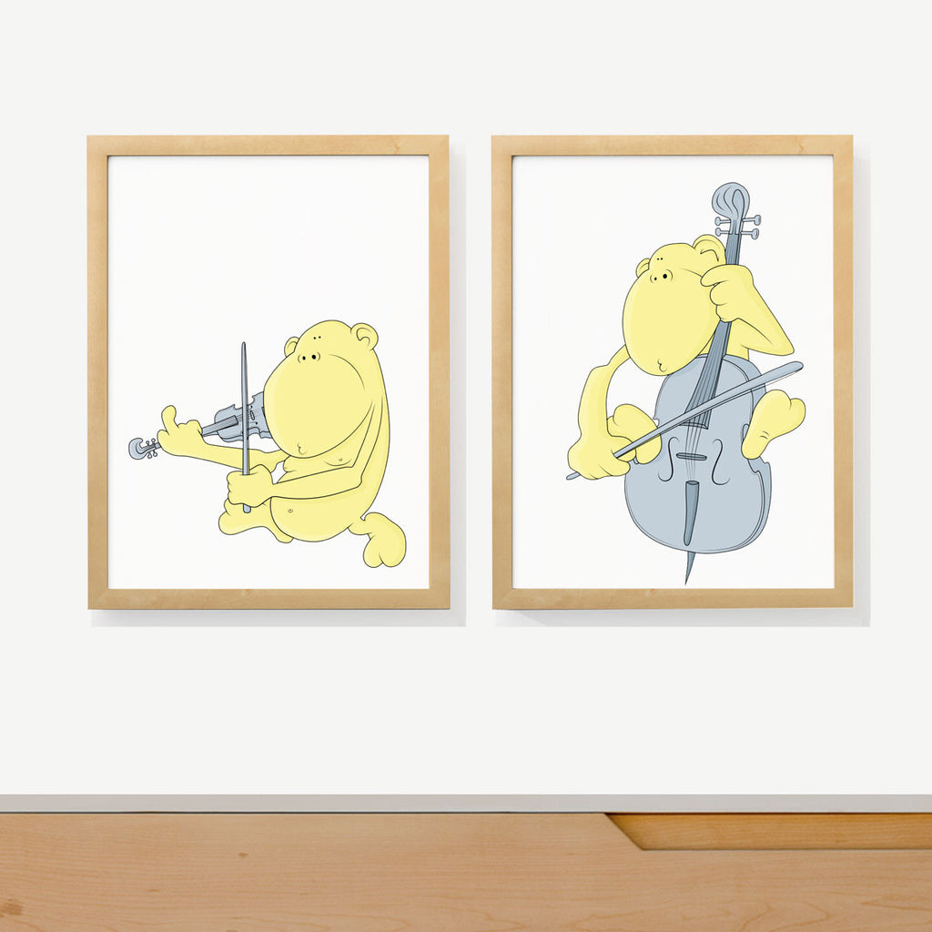 String Monkey Duet | Nursery Art Prints | Two adorable prints for ...