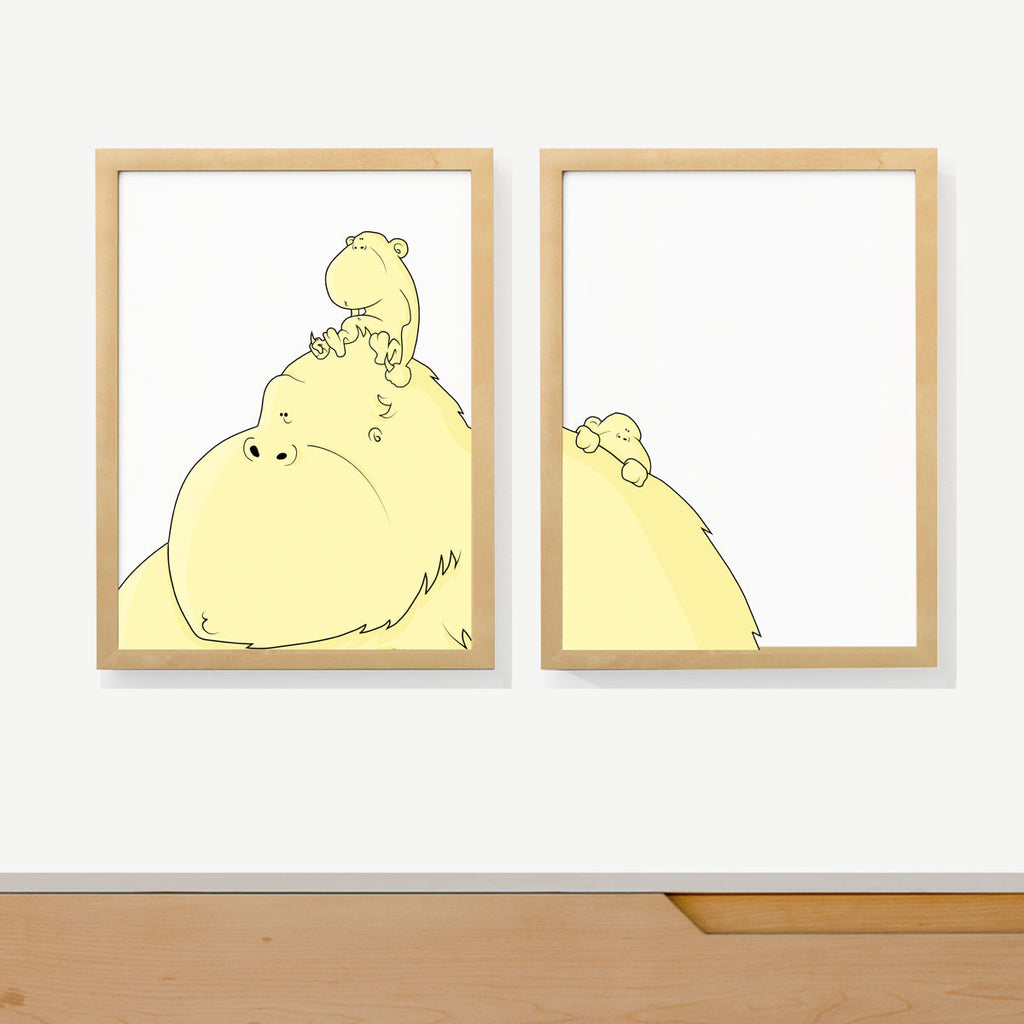 GORILLA MAMA | Two set art prints