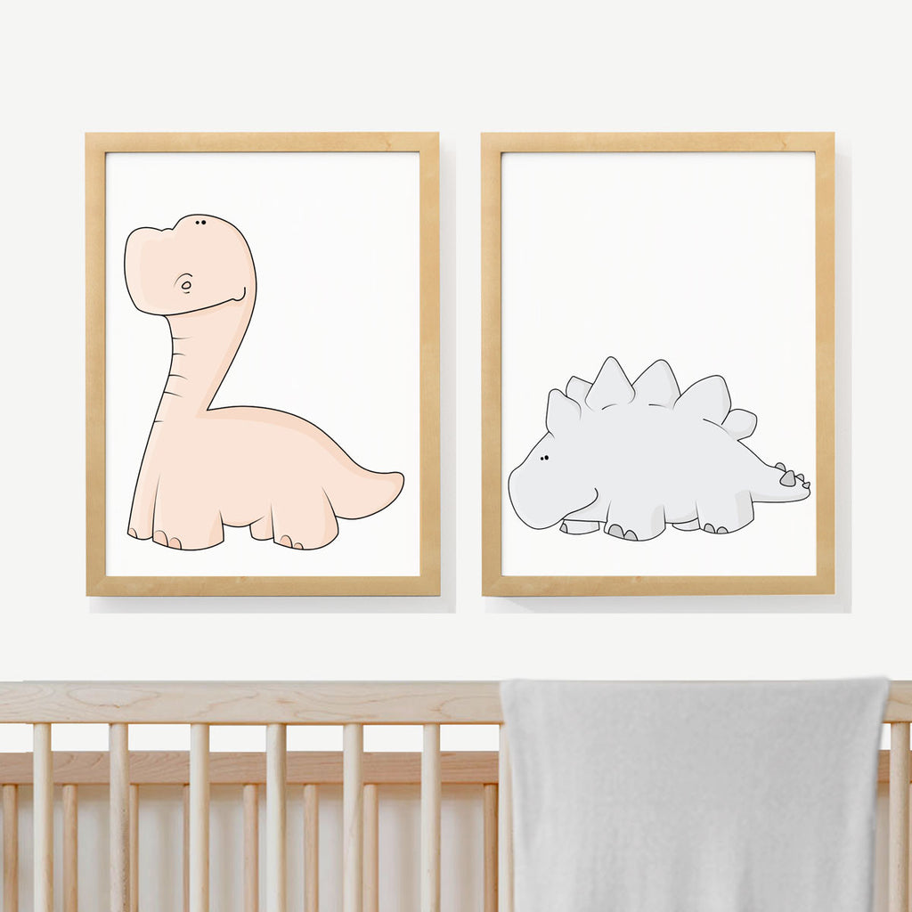 DINOSAURS | Two set art prints