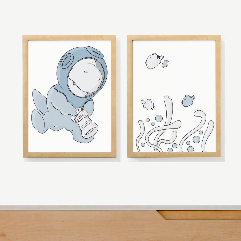 UNDER THE SEA | Two set art prints
