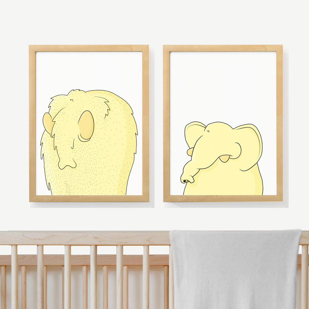Mamut family ancestry | Nursery Art Prints | Two adorable prints for baby's room | Kid and Baby decor | Decoración bebes | Láminas infantiles